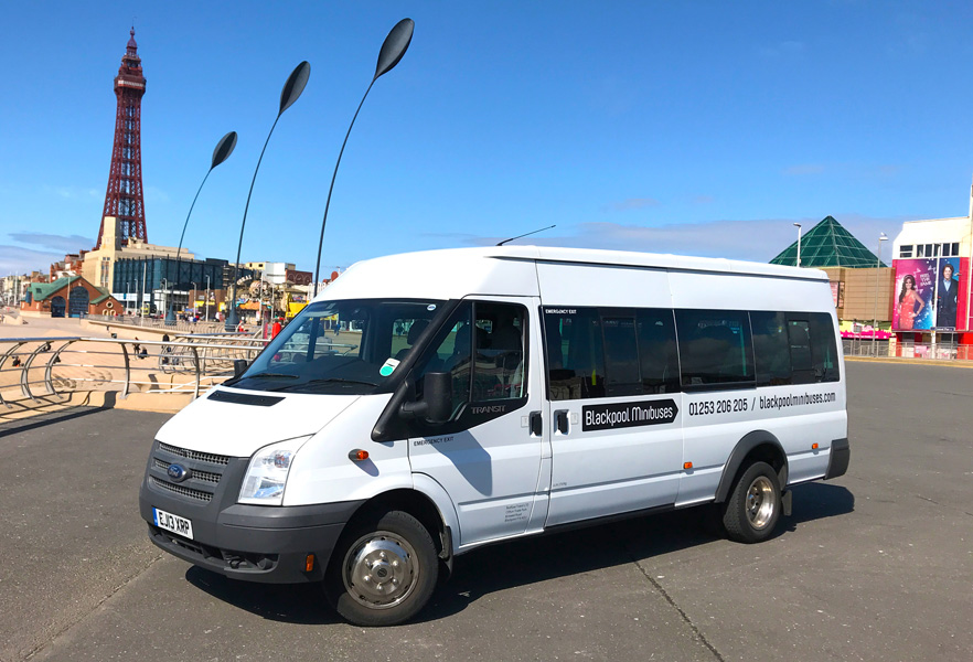 16 seater Blackpool Minibuses minibus – The perfect transport option for all of your travelling needs